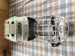Jofa hockey helmet and mask. Junior sized.
