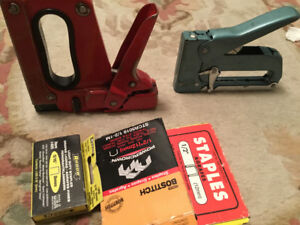 Industrial staplers and staples