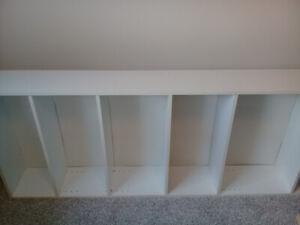 Adjustable 5 Shelf White Bookcase