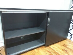 Large Lockable Black-Brown Cabinet