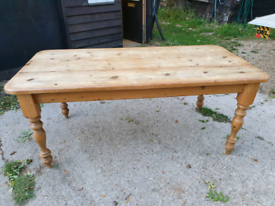 20th Century Large Solid Pine Farmhouse Dining Table