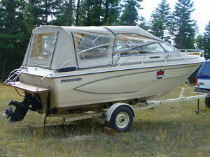 21ft glastron Boat & Caukins Trailor  (Must Sell)