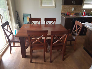 Solid Wood Dining Table (Canadian Made) (6 Chairs)