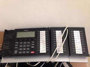 Toshiba Phone System - 34 Phones and IPBCS for $250