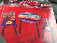 Brand new Disney wooden table and chair set