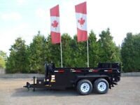 Miska 7 Ton Landscape Dump Trailer - Loaded with Options North Bay Ontario Preview