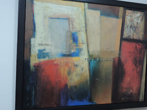 IKEA ABSTRACT FRAMED PRINT