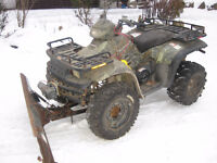 1999 POLARIS 500 SPORTSMAN WITH SNOWPLOW AND WINCH