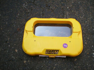 COVER COUVERCLE BATTERIE BATTERY YELLOW TOP OPTIMA DEEP CYCLE