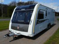 Elddis Crusader Storm. One Owner Twin Axle with Island Bed