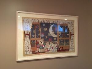 Nursery themed framed tapestry Kitchener / Waterloo Kitchener Area image 1