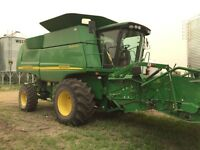 2007 JD 9760 STS w/ straight cut header