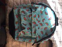 Men's watermelon backpack