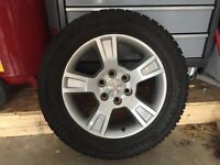 4 LIKE NEW 255/55/R18 WINTER TIRES ON RIMS