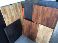 OAK FINGERJOINT TABLE TOPS FOR RESTAURANTS 3 CLORS AND 2 SIZES