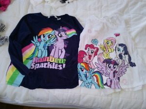 2 chandails my little pony 6-8 ans 3$