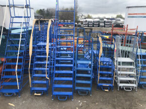 BEST PRICE ROLLING LADDERS. Stock carts. Blow out sale.