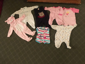 Baby girl onesies 0-3m and 3-6m and 9m