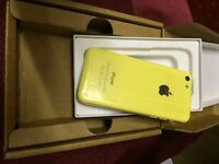 New iPhone 5c yellow 8gb