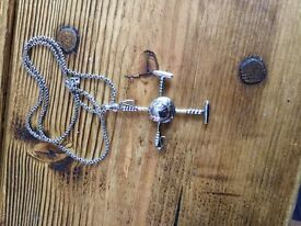 Vintage Ralph Lauren silver polo pendant and chain
