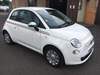 2012 Fiat 500 1.2 ( 69bhp ) POP White 3 Door 21707mls MOT 12m £30 Road Tax