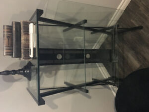 Glass shelving stand