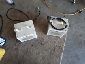 Two 220 volt box heaters for sale