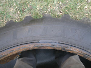 TWO- 18.4 X 38 TITAN TRACTOR TIRES