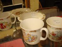 VARIOUS BUNNYKINS CUPS, PLATES, BABY'S PLATE