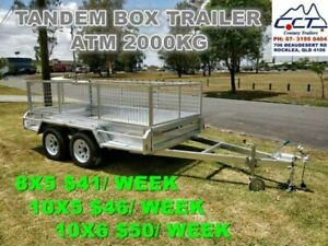 LAYBY 8X5/ 10X5/ 10X6 Galvanized Tandem Box Trailer