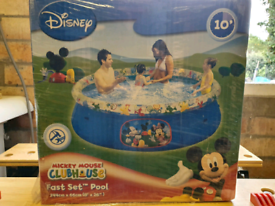 Disney FastSet above ground pool - get ready for a sunny summer
