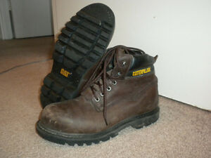 Work Boots (steel toe and steel heel) Caterpillar