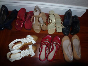 8 pairs of ladies shoes all in good used condition