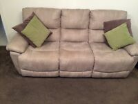 **HARVEYS FAUX LEATHER SOFAS** 6 MONTHS OLD**
