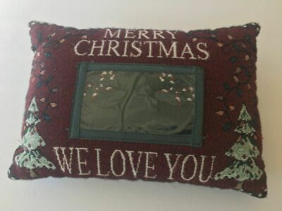 Merry Christmas We Love You Photo holder decorative throw Pillow grandma - Grandma Throw Pillow