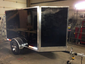 2013 5x10 V-Nose Motorcycle Trailer