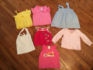 Infant girl shirts (6-12 months)