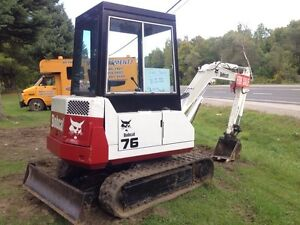 Bobcat 76 mini excavator - first $12500