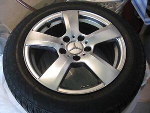 Set of 4 Snow Tires Mounted on Rims