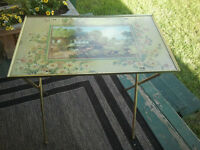 antique tv table