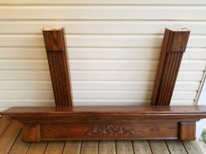 Wooden Fireplace surround/ mantel