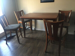 Bar height dining table and chairs *** needs work- pls read ad!