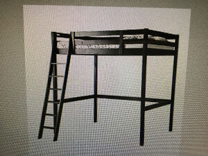 Loft bed frame, double size