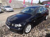 BMW 316Ti 1.8 ES COMPACT~04/2004~3 DOOR HATCHBACK~MANUAL~STUNNING BLACK