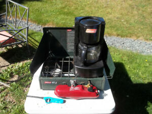 Coleman Camping Stove 425 and Coffee Maker