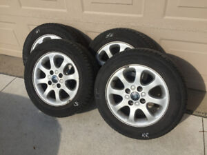 195/60 R15  Cooper Tires and Alloy Rims