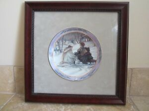 Evening Skaters plate by Trisha Romance-Framed