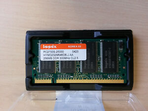Laptop memory 256MB Compaq - Dell - HP