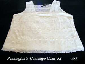 Pennington's  Contempo Cami 5X soft, glistens, cream colour, new