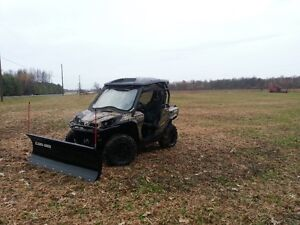 2013 Canam Commander XT with Apache tracks and snow plow